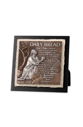 DALIY BREAD STONE SCULPTURE PLAQUE