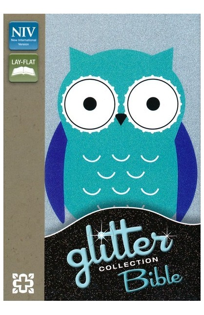 NIV GLITTER BIBLE COLLECTION TURQUOISE OWL