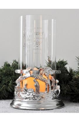 HOLY FAMILY Christmas Hurricane Lamp