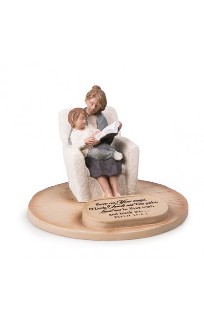 DEVOTED MOM WITH SON SCULPTURE