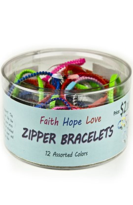 AYAT ZIPPER BRACELETS - BOX OF 50 PIECES