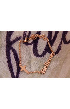 BELIEVE BRACELET ROSE GOLD