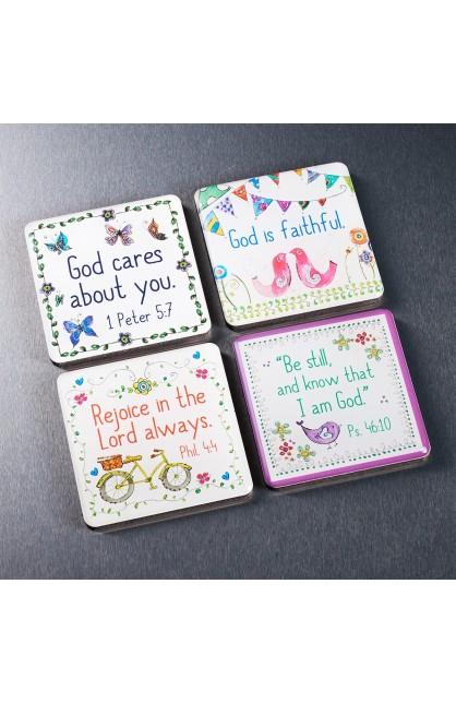 Everyday Blessings Inspirational Fridge Magnet Set (4)