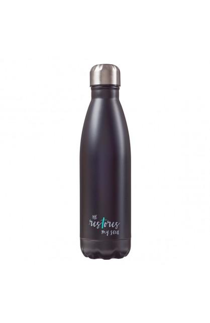 SS Water Bottle Black He Restores