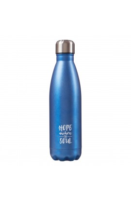 SS Water Bottle Blue Hope Anchors