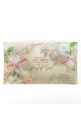 Floral Inspirations Glass Cookie Tray - 1 Corinthians 10:31