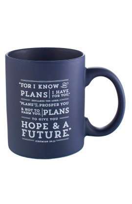 """""""I Know the Plans"""" Mug in Navy"""