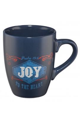 """Retro """"Joy"""" (Blue) Stoneware Mug"""