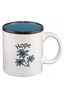 Hope (Blue Interior) Stoneware Mug