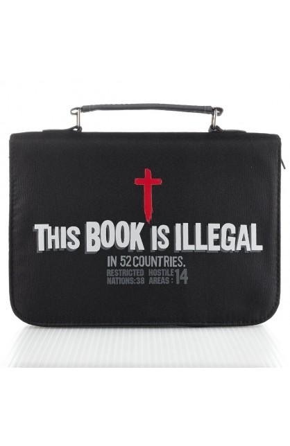 """This Book Is Illegal"" Micro-Fiber Bible Cover (Medium)"