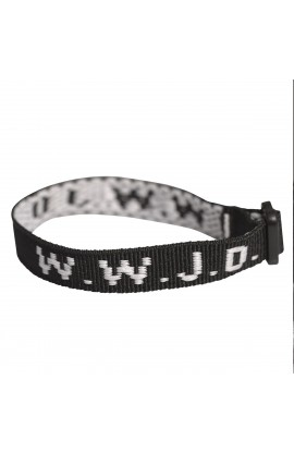 Wristbands   Black, W.W.J.D.