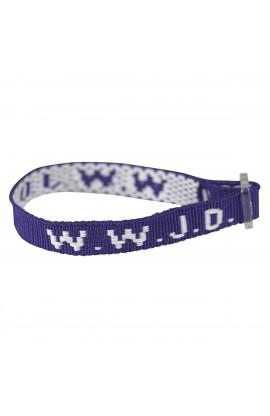 Wristbands - Purple, W.W.J.D.