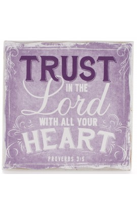 """Finishing Strong Collection: Trust in the Lord""  Small Wooden Wall Plaque"