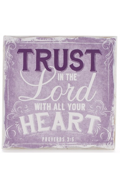 """""""Finishing Strong Collection: Trust in the Lord"""" Small Wooden Wall Plaque"""