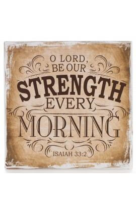 """Finishing Strong Collection: O Lord be Our Strength"" Small Wooden Wall Plaque"