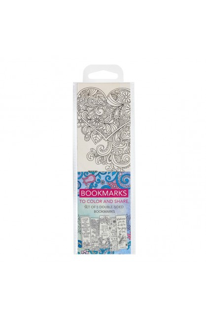 Coloring Bookmarks Faith Blue