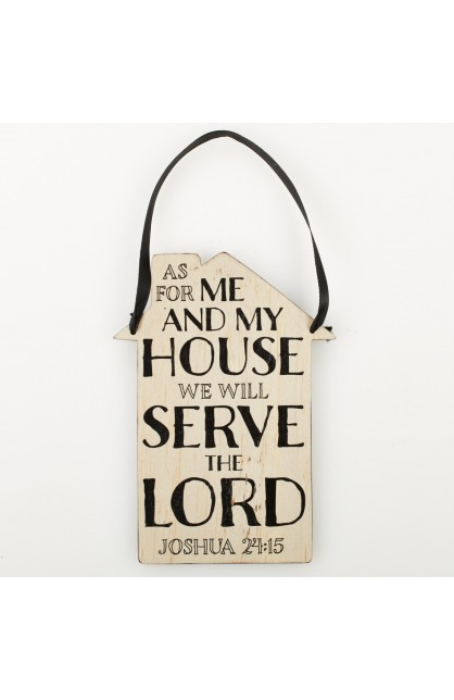"""""""As For Me And My House"""" Door Hanger/Wall Plaque"""