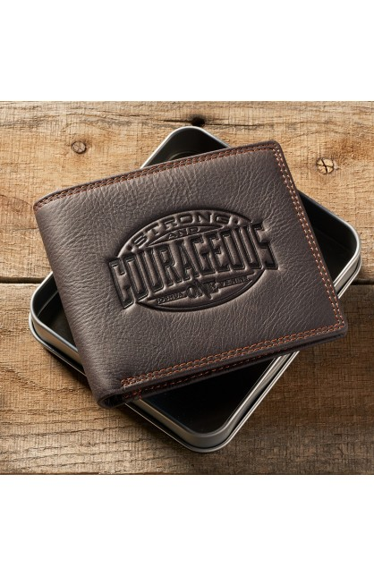 Wallet in Tin Leather Courageous