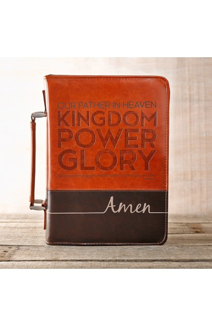 """""""The Lord's Prayer"""" Two-Tone Bible Cover (Medium)"""
