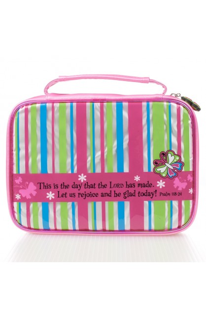 """""""This is the day"""" Striped Bible Cover (Small)"""