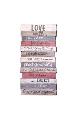 Wall Decor MDF Medium Love Stacked 8 1/2 x 16 1/2