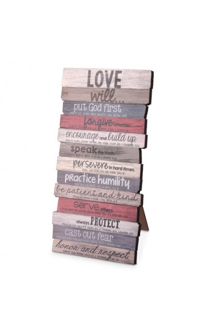 Plaque-Wall/Desktop-MDF-Love-Stacked-5 x 10