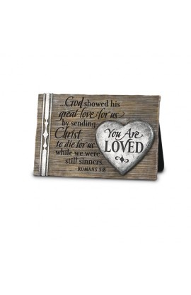 Plaque Cast Stone You Are Loved