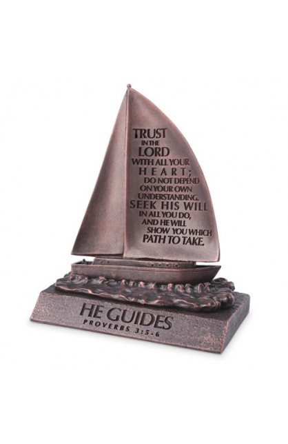 Sculpture-Moment of Faith-Small-Sailboat-He Guides