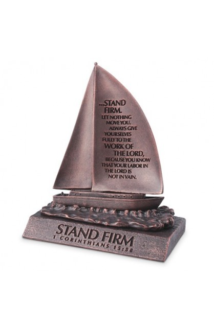 Sculpture-Moment of Faith-Small-Sailboat-Stand Firm
