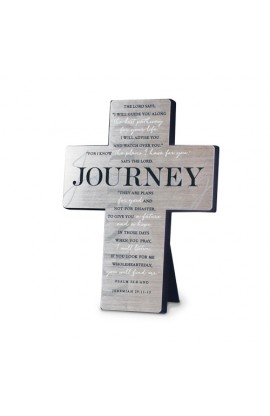 Cross Wall/Desktop Metal Silver Printed Journey
