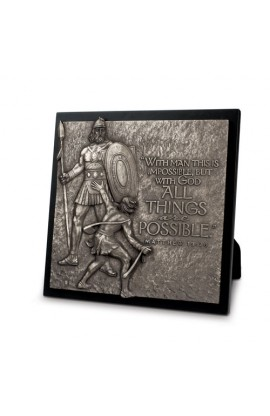 Plaque Sculpture Moments of Faith David & Goliath