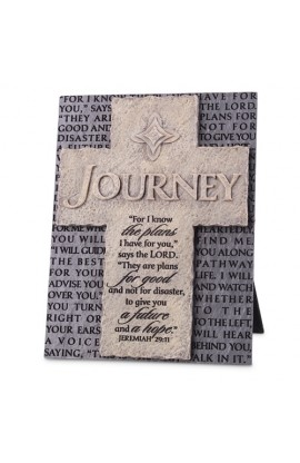 Cross/Plaque Cast Stone Statements of Faith Journey