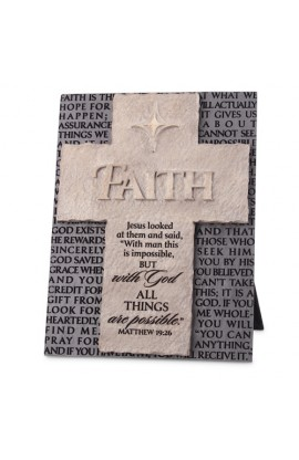 Cross/Plaque Cast Stone Statements of Faith Faith