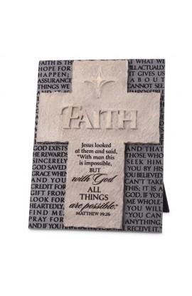 Cross/Plaque Cast Stone Statements of Faith Faith