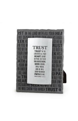 Plaque-Cast Stone-Badge of Faith-Trust