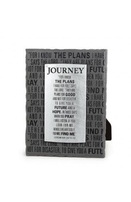Plaque Cast Stone Badge of Faith Journey