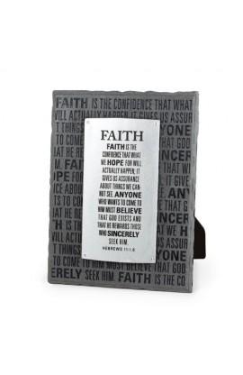 Plaque-Cast Stone-Badge of Faith-Faith