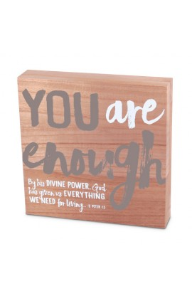 Plaque Wood Identity You Are Enough