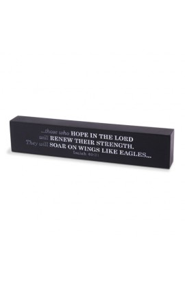 Plaque Cast Stone Scripture Bars Hope In The Lord