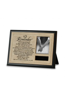 Frame/Plaque Cast Stone/MDF Remember Personalize