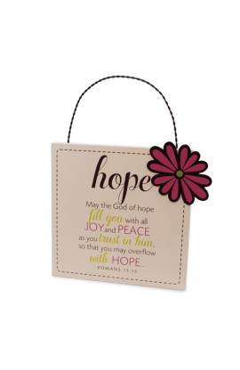 Plaque MDF Metal Filled With Hope