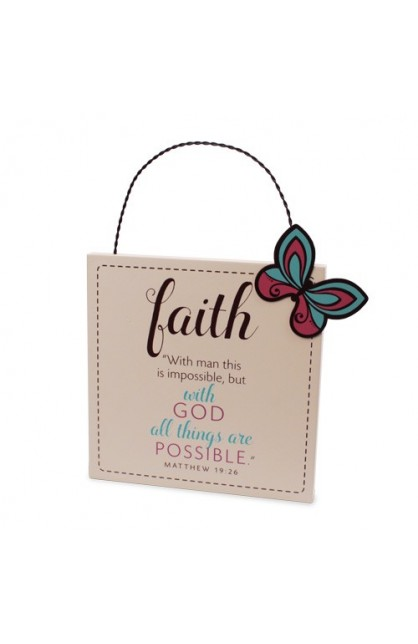 Plaque MDF Metal Filled With Faith