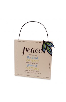 Plaque MDF Metal Filled With Peace