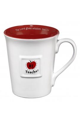 Teacher/Prov. 2:6 (Red) Ceramic Mug