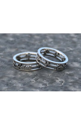 HEART BEATS JESUS SILVER AYAT RING 46