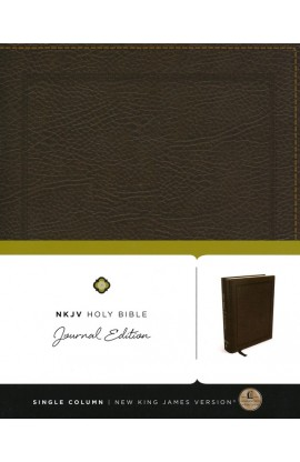 NKJV HOLY BIBLE JOURNAL EDITION BROWN