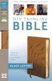 NIV THINLINE BIBLE TOFFEE BLACK LETTER