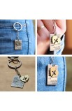 24 PIECES - HEART TAG KEY CHAIN