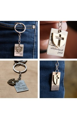 CROSS TAG KEY CHAIN
