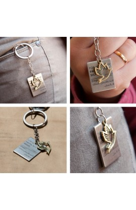 DOVE TAG KEY CHAIN